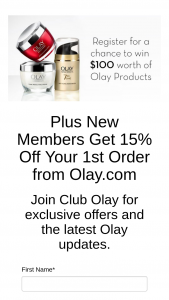 Procter & Gamble – Club Olay Sign Up – Win an e-code redeemable at Olaycom