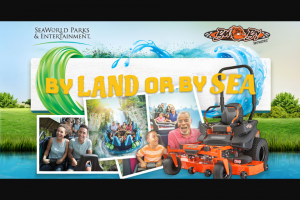 Seaworld – Bad Boy Mowers – Win four to Orlando Florida