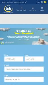 Serta – Challenge Your Comfort – Win a queen size Serta iComfort Hybrid Blue Fusion 3000.
