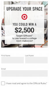 Target College Room Makeover Sweepstakes – Win A $2,500 Target Gift Card