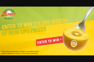 Zespri Real Life Sweepstakes – Win A$15,000 Custom Prize Package