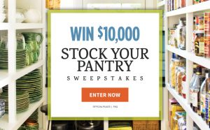 Meredith – All Recipes – Win a $10,000 check to Stock Your Pantry