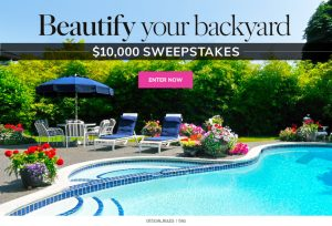 Meredith – Martha Stewart – Win a $10,000 check to Beautify Your Backyard