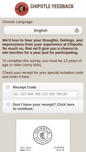 Cmg Strategy – Chipotle Feedback Customer Satisfaction Survey Sweepstakes