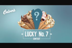 "Culver's – ""fresh Frozen Custard Lucky #7""  Contest And – Win Gift Cards"