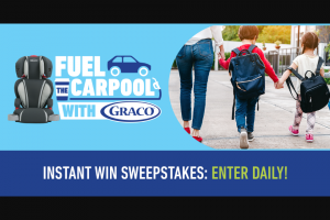 Graco Fuel The Carpool Sweepstakes – Win AGracoTurbo Booster Car Seat