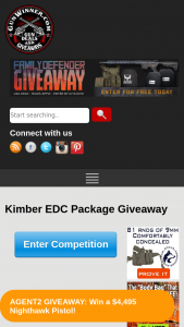 Gunwinner – Kimber Edc Package Giveaway – Win (1) Kimber KHX Custom Pistol in .45ACP (1) DeSantis Thumbreak Scabbard Holster (1) DeSantis Pegasus Raptor Kydex Holster A Prize Package Worth Over $1400