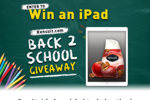 "Henkel – Renuzit Back To School Ipad Giveaway – Win one (1) 32 GB Ipad® (""Prize"") with an approximate retail value (ARV) of $329 USD[1]  The total ARV of all prizes is $4935 USD"