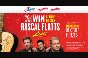 Hostess Rascal Flatts Sweepstakes – Win A3day2night Trip For Two To A Rascal Flatts Concert