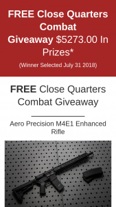 Ilmg National Gun Owner – Close Quarters Combat Giveaway Sweepstakes