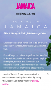 Join Me In Jamaica Sweepstakes For A Chance – Win A 4night Trip For Two To Jamaica Worth $3,000