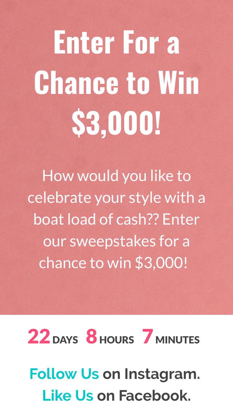 Macerich Celebrate Your Style Sweepstakes – Win $3,000 Cash