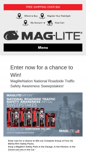 MagLiteNation July Maglite NRSTA Sweepstakes – Win AMini MAGLITE LED Flashlight Safety Pack, A MAGLITE ML25LT LED Flashlight Safety Pack, A MAGLITE ML50L LED Flashlight Safety Pack, And A MAGLITE ML300L LED Flashlight Safety Pack