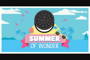 Mondelez – Oreo Summer Of Wonder – Win Pool one per Menchie's Prize Pool and one per Krystal Prize Pool) $1000 American Express PrePaid Gift Card