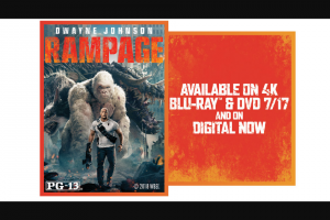 Muscle And Fitness – Rampage Giveaway – Win one (1) Rampage from Warner Bros on Blu-ray