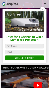 Ready Player One Sweepstakes – Win ACasio Slim Projector And A Digital Copy Of Ready Player One