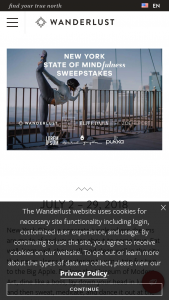 Wanderlust – New York State Of Mind(fulness) Sweepstakes