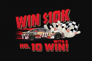 10 Win Sweepstakes For A Chance – Win Either $10,000 Or $1,000  Depending On The Outcome Of The NASCAR Go Bowling At The Glen Race On August 5, 2018.