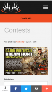 Buckmasters – Cajun Whitetail Dream Hunt Giveaway Sweepstakes
