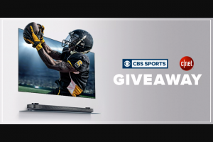 CNET – CBS Sports Kick Off Football – Win of one (1) LG Wallpaper 65″ TV
