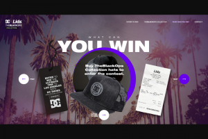 DC Shoes – Ultimate Trip To Los Angeles – Win a prize consisting of a three day