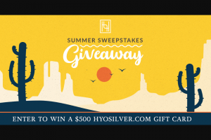Enter – Win A $500 Gift Card To Hyo Silver For Jewelry And Accessories