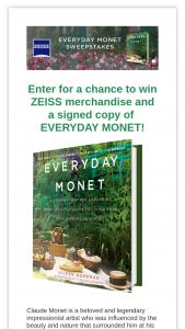 Harpercollins – Everyday Monet Sweepstakes