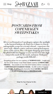 Harper's Bazaar – Postcards From Copenhagen – Win a four (4) day