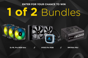 Hexus – Corsair Upgrade Bundles – Win a H100i Pro RGB CPU cooler an RM750x power supply and three ML Pro RGB fans