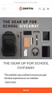 Incipio Griffin Technology – Back To School – Win pack shall consist of iPad 9.7-inch ($329 us) and Apple Pencil ($99 us) Griffin – Reserve Power Bank USB-C 26800mAh ($69.99usd) and Premium Braided Lightning Cable 5 ft (silver $29.99 us).