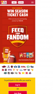 Kellogg's – Feed Your Fandom – Win $10000 in Season Ticket Cash (to be awarded in the form of $10000 check to the winner).