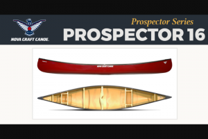 Paddlingcom – Nova Craft – Win the Nova Craft Prospector 16′ Canoe
