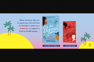 Penguin Random House – The Proposal Rif – Win 1 ARC of THE PROPOSAL by Jasmine Guillory (Prize Approximate Retail Value $15.00)