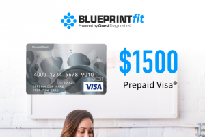Quest Diagnostics – Blueprintfit $1500 August – Win $1500 VISA Digital Gift Card via Tango approximate retail value of the prize is $1500.