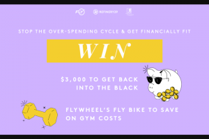 Refinery29 – Money Diaries – Win one Prize One $3000 American Express gift card (ARV is $3000.00.) one Fly Anywhere Bike with one-year standard warranty (ARV is $1699.00).