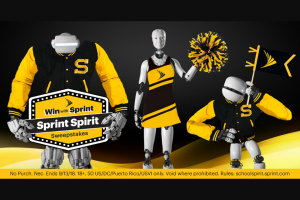 Sprint Spirit Sweepstakes  Instant Win Game For A Chance – Win $5,000 In Amazon Gift Cards, A Samsung Notebook 9 Laptop, A Galaxy Tablet, And A Trip Worth $10,000 To Anywhere You Want In America Plus, 5,100 People Will INSTANTLY WIN A Prize