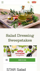 Star Fine Foods – Salad Dressing – Win one (1) OXO Steel Salad Spinner