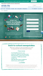 Stride Rite – Back To School – Win Win a year's worth of free shoes and the ultimate-back-to-school gift pack