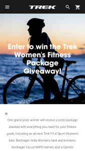 Trek Bicycle – Fitness Package Sweepstakes
