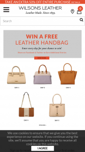 Wilsons Leather – Bag-A-Day Giveaway – Win One (1) Wilsons Leather product(s)