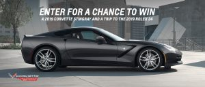 General Motors – 20th Anniversary of Corvette Racing – Win a 2019 Chevy Corvette Stingray Coupe valued at $62,490 PLUS a trip for 2 to the 2019 Rolex 24 at Daytona