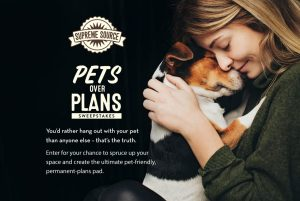HGTV – Pets Over Plans – Win a grand prize of a $10,000 check OR 1 of 8 weekly prizes of one year supply of Supreme Source Pet Food
