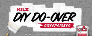 Masterchem Industries – Kilz DIY Do-Over – Win a grand prize of a $10,000 check OR 1  of 5 Visa gift cards valued at $100 each