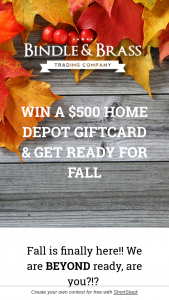 Bindle & Brass – $500 Home Depot Gift Card Sweepstakes
