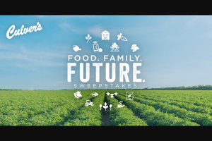 Culver's – Food Family Future – Win winner will win the following one $250 Culver's Gift Card and one $250 donation to the National FFA in the winner's name