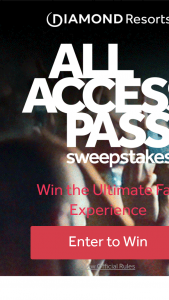 "Diamond Resorts – All Access Pass – Win the following (the ""Grand Prize winner "") Tickets to the 2020 Diamond Resorts Tournament of Champions with access to evening events    7-day/6-night stay for two persons at Mystic Dunes Resort"