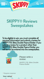 Hormel Foods – Skippy Reviews – Win be awarded in this .