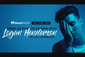 Iheart – Evening With Logan Henderson In Los Angeles – Win and one eligible guest to attend an intimate Logan Henderson performance