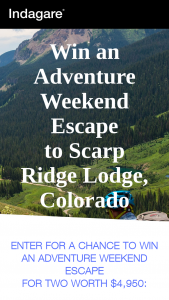 Indagare Travel – Adventure Weekend Escape – Win 2-night stay at Scarp Ridge Lodge in Crested Butte
