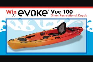 Paddling – Evoke – Win the Evoke Vue 100.